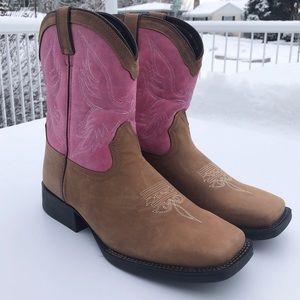 Durango pink brown western boots